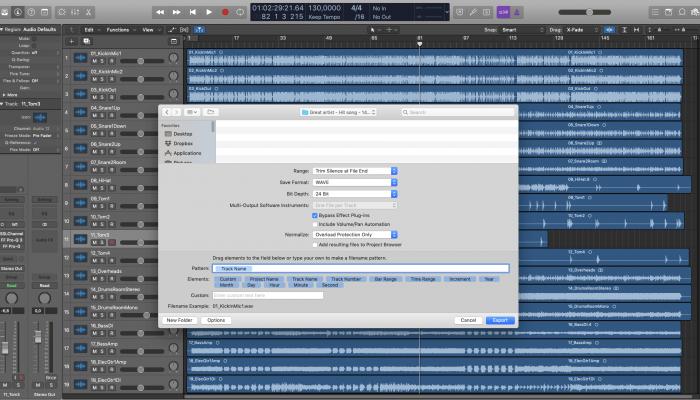 export tracks mix